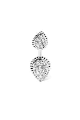 Serpent Bohème Double Motif Diamond Single Stud Earring