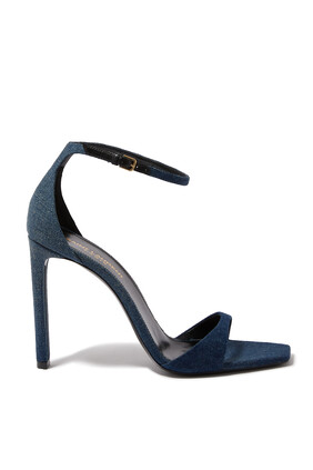 Denim Buckle Sandals