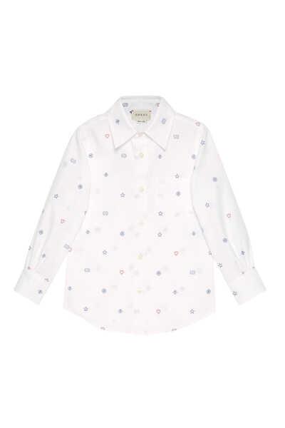 Symbols Fil Coupé Cotton Shirt