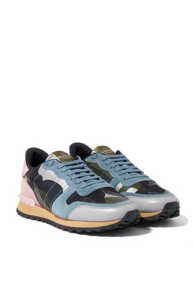 Valentino Garavani Rock Runner Camo Sneakers
