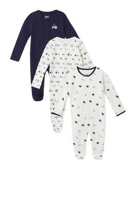Farm Sleepsuit, Set of Three