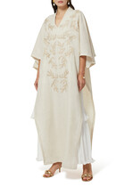 Ruffle Embroidered Kaftan