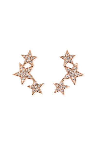 Triple Star Mini Crawler Earrings