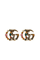 Crystal Double G Earrings