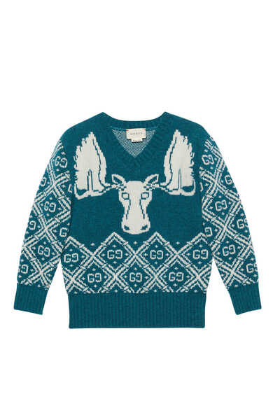 GG Moose Wool Jacquard Jumper