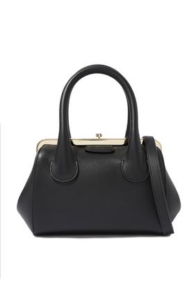 Small Joyce Frame Bag in  in Shiny Calfskin