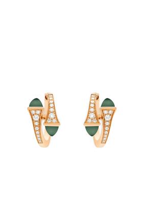 Cleo Green Agate Huggies Earrings