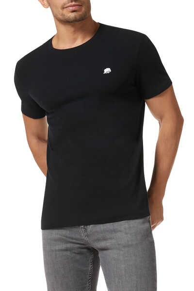 Soft-Wash Logo Crewneck T-Shirt