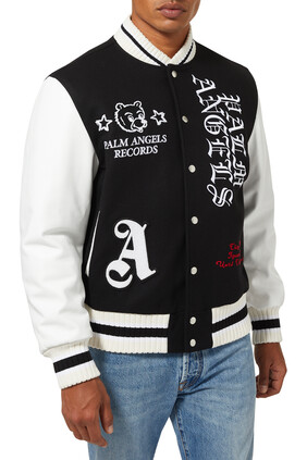 Burning Head Wool-Cashmere Varsity Jacket