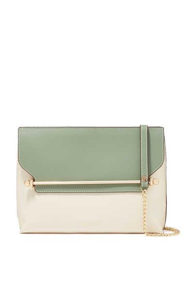 East/West Stylist Mini Bi-Color Leather Bag