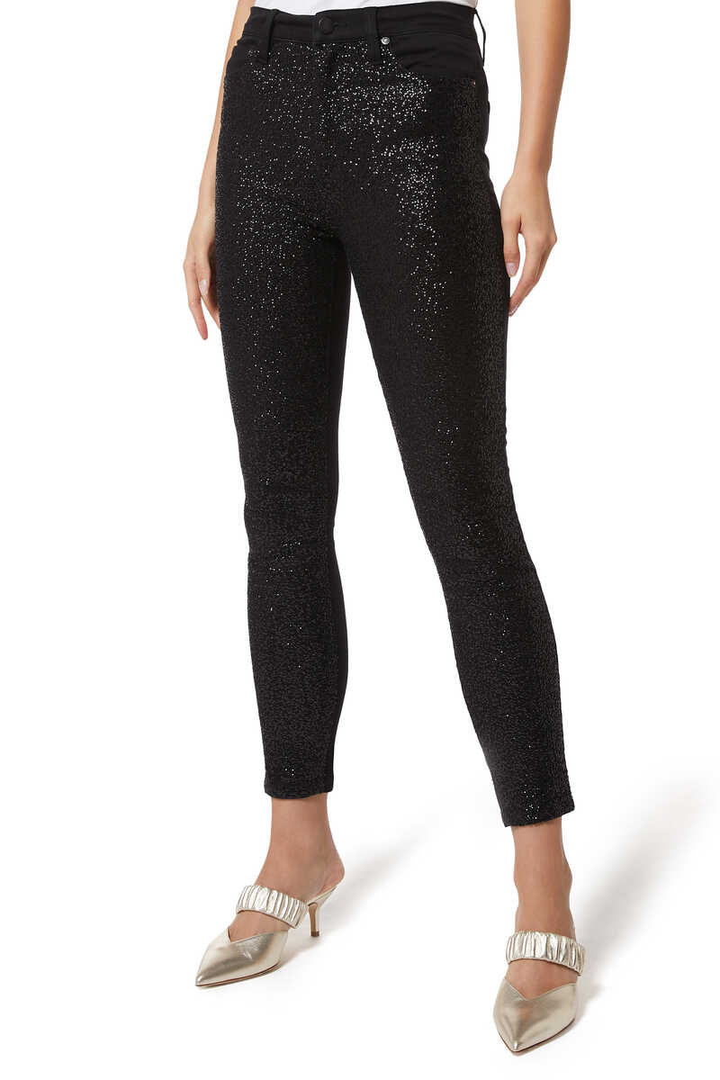 Good Sequin Ankle Skinny Jeans image number 1
