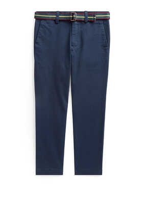 Belted Super Skinny Chino Pants
