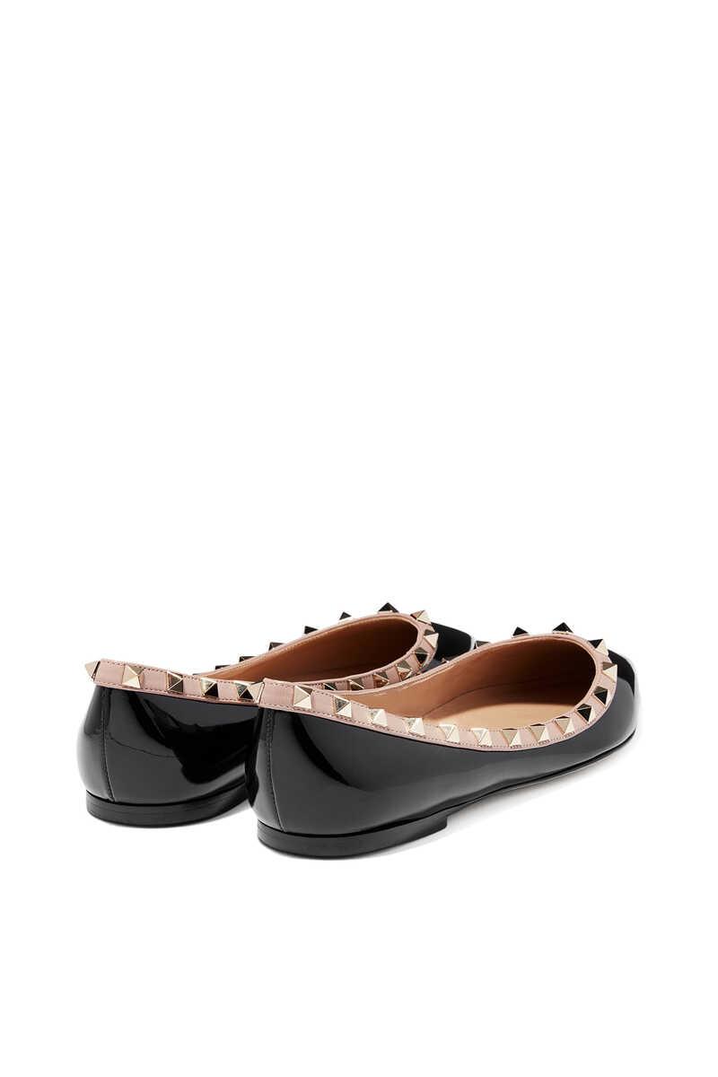 Valentino Garavani Rockstud Patent Ballerinas image number 3