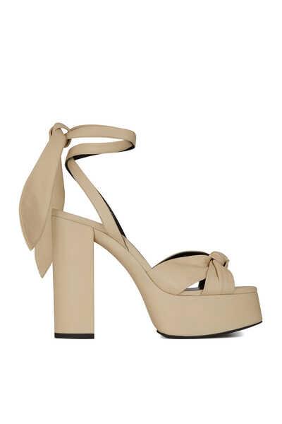 Bianca Platform Sandals in Smooth Leather