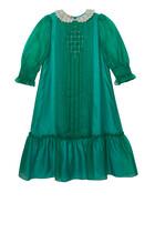 Silk Organza Embroidery Dress
