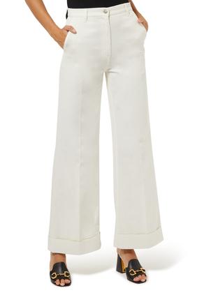 Eco Washed Flared Pants