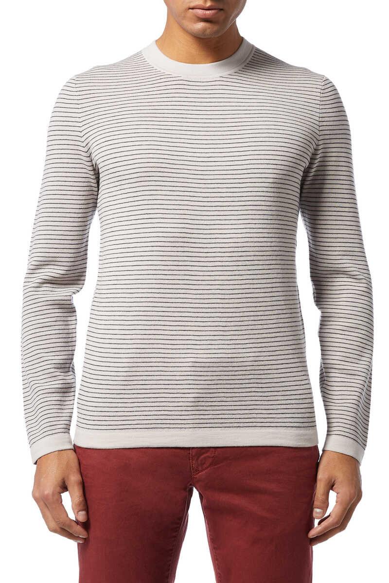 Merino Wool Stripe Sweater image number 1
