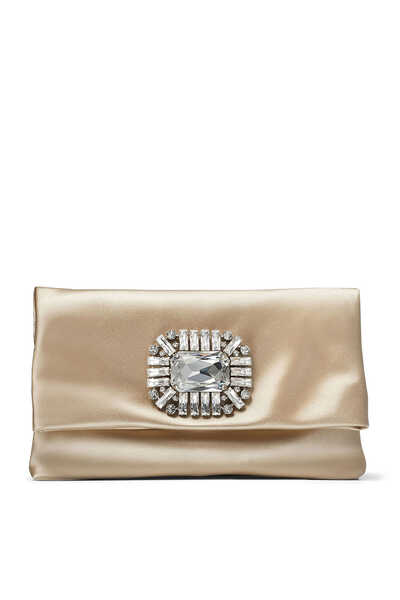 Titania Satin Jewelled Clutch