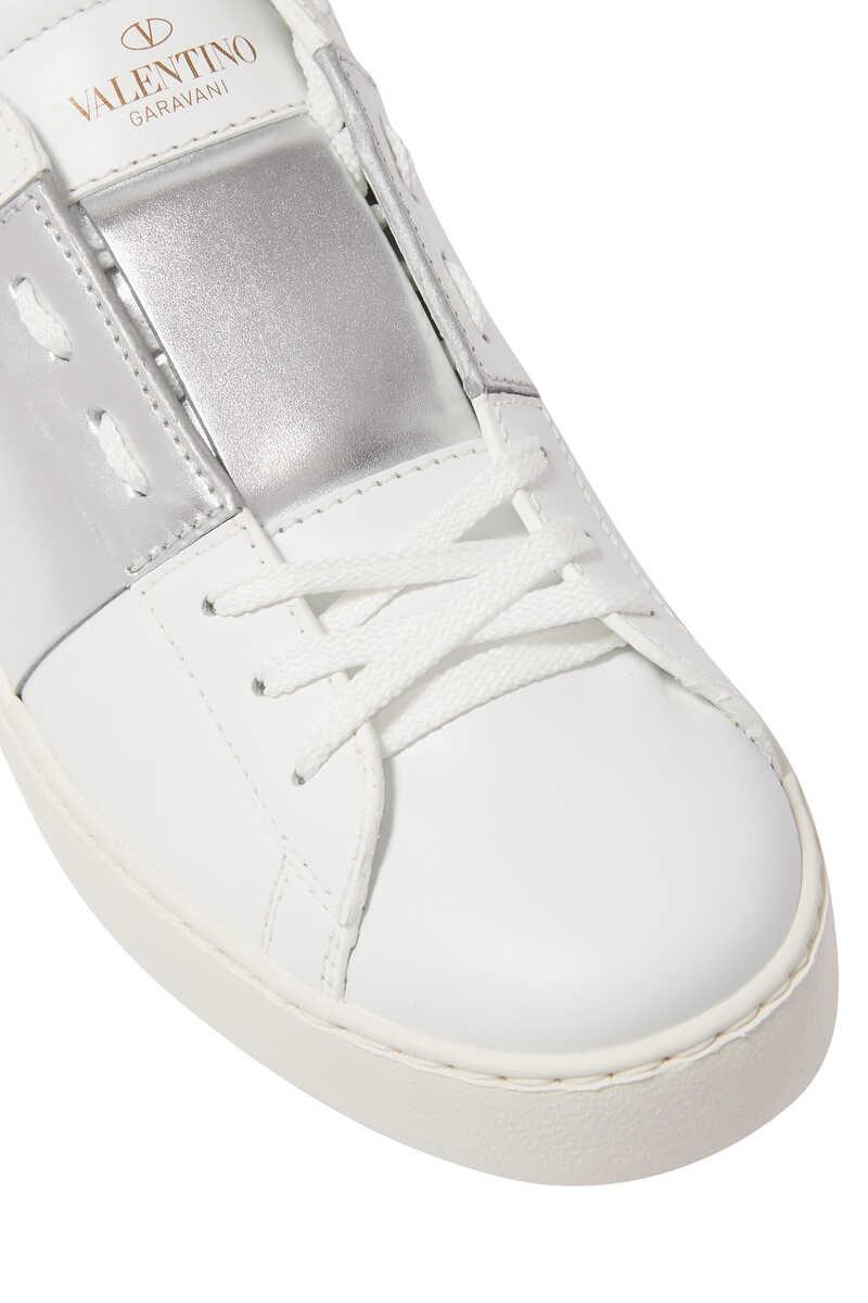 Valentino Garavani Patent Striped Open Sneakers image number 4