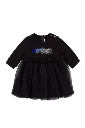 Logo Skirt Dress