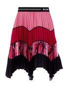 Logo Pleated Skirt