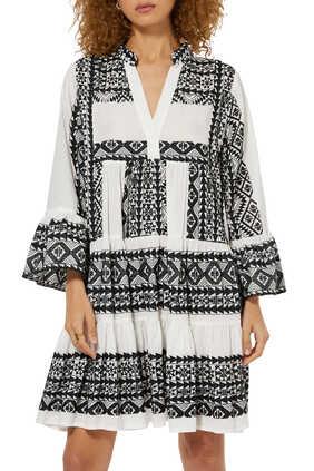 Abstract Print Mini Dress