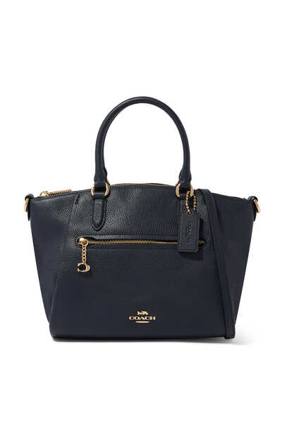 Elise Pebble Leather Satchel Bag