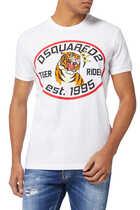 DSQ2 Tiger Print T-Shirt