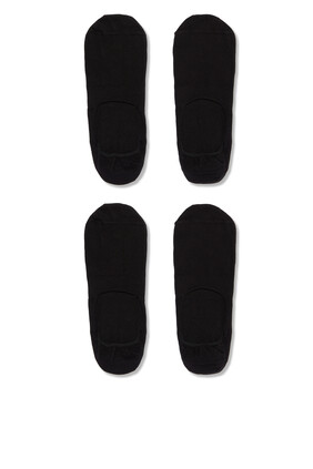 Stretch-Cotton Shoeliner Socks, Two Pairs