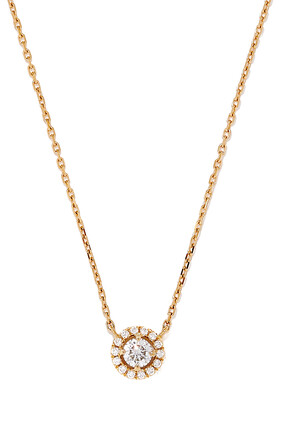 Rock Circle Diamond Necklace in 18kt Yellow Gold