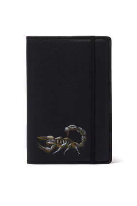 Scorpion Leather Notebook Cover