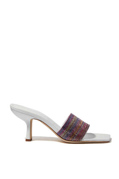 Dylan 50 Rainbow Crystal Mule Sandals