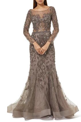 Mauve Beaded Dress