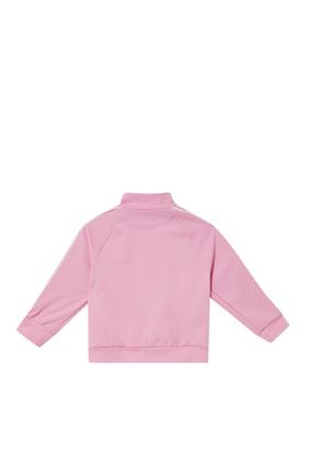 Stripe Fleece Sweatshirt