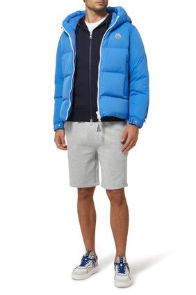 Zip-up Cotton-Jersey Hoodie