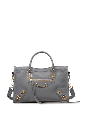 Metallic Edge City Medium Shoulder Bag