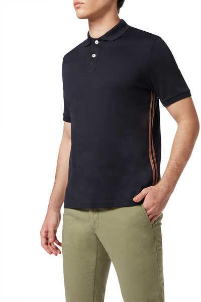 Contrast Side Stripe Polo Shirt