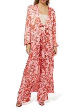 Setti Reef Print Robe
