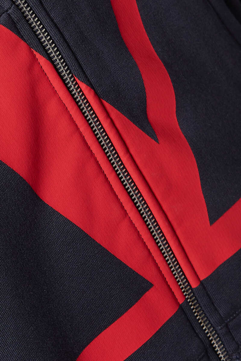 V-Logo Zip-Front Hooded Sweatshirt image number 4