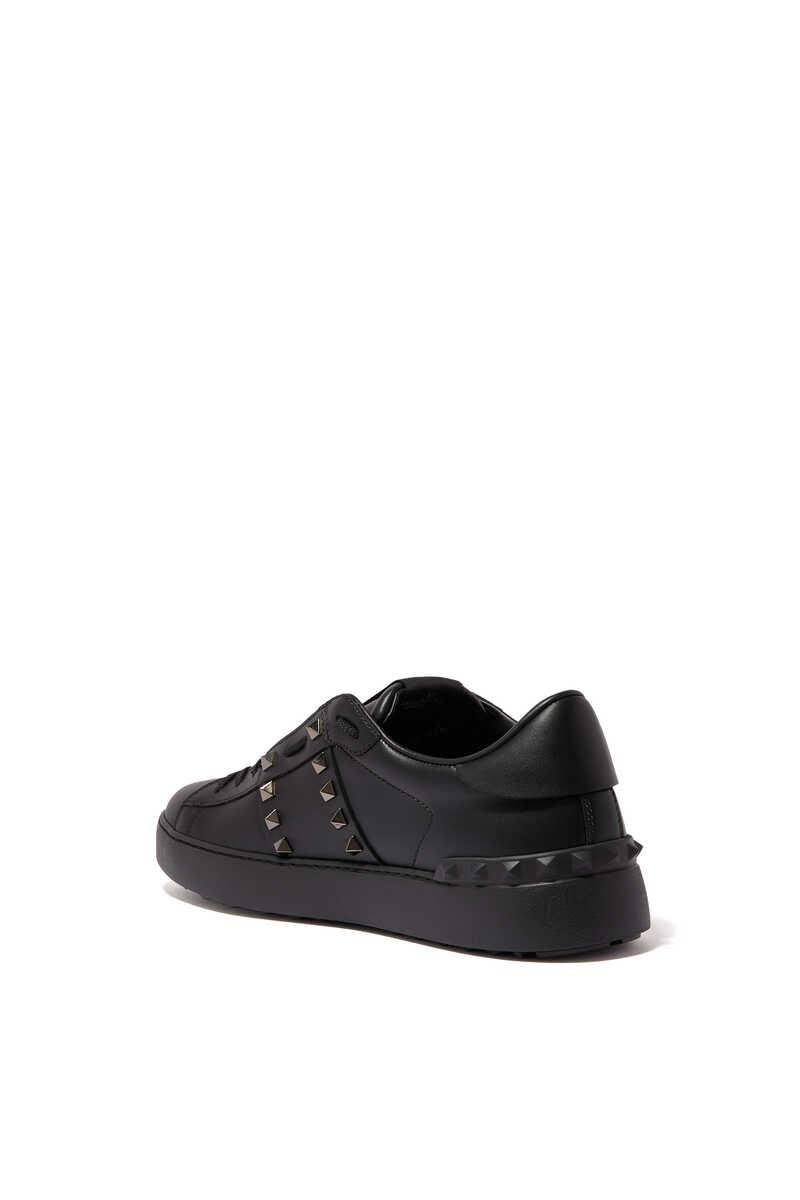 Valentino Garavani Black Rockstud Untitled Sneakers image number 2