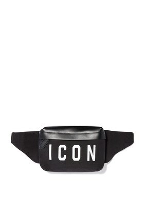 Icon Print Nylon Belt Bag