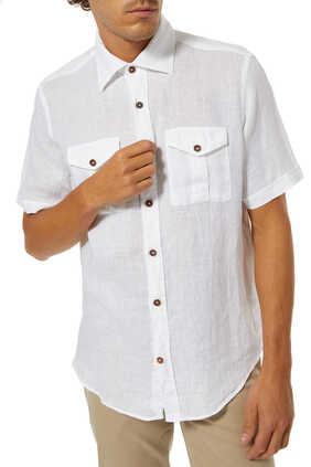 Linen Chest Pocket Shirt