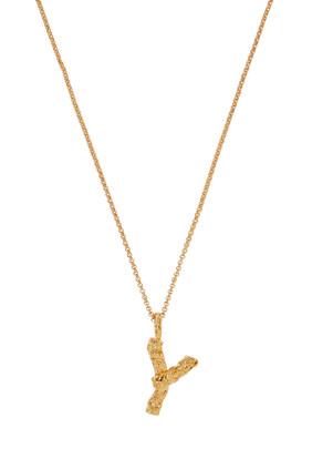 Alphabet Brass Necklace
