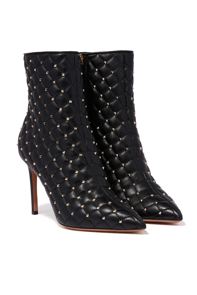 Valentino Garavani Quilted Point-Toe Boots image number 1