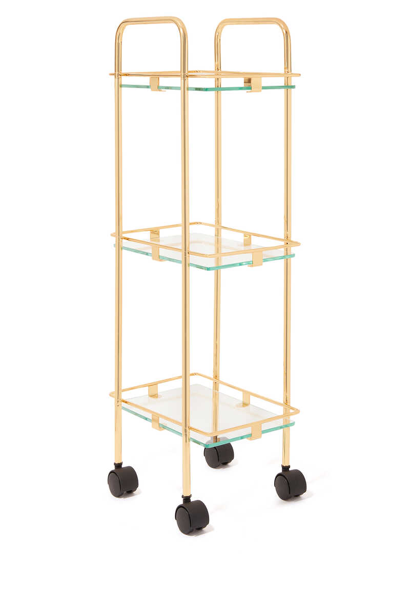 Square Gold-Plated Trolley image number 1