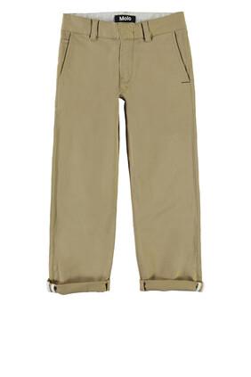 Khaki Woven Pants