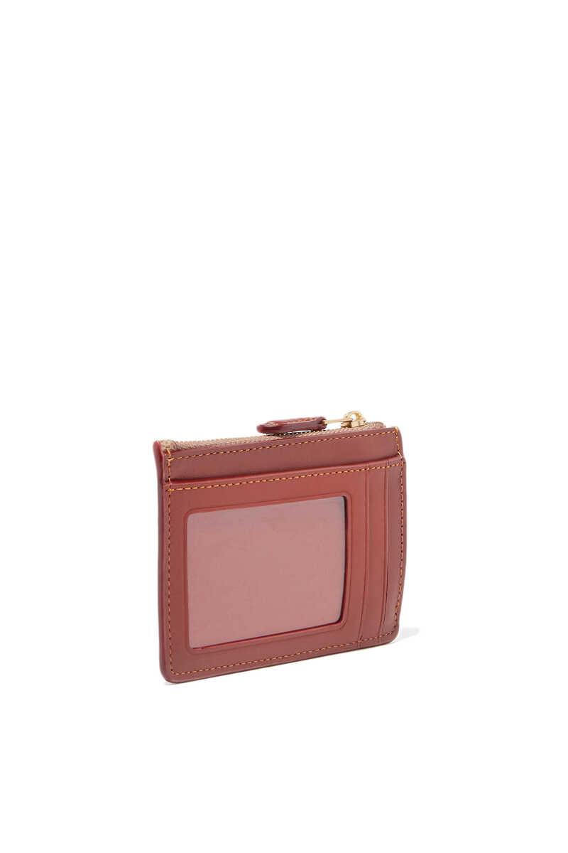 Tan & Rust Signature Mini Skinny ID Case image number 2