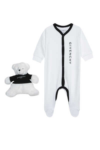 Logo-Print Pyjama And Bear, Set of 2