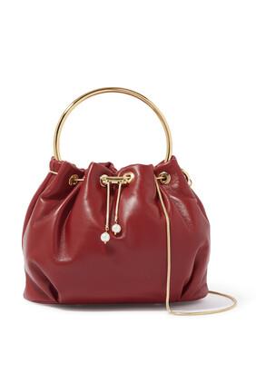 Gold Handle Bucket Bag