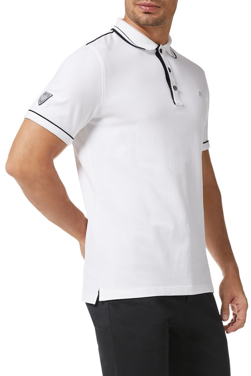 Tipped Pique Polo Shirt image number 1